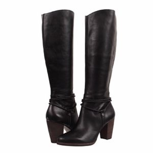 UGG | Black Leather Neoma Riding Boots | Size 8